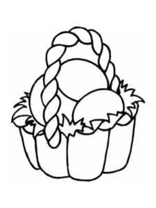 Яйца в корзинке детская раскраска