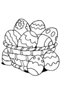Яйца пасхальные в тарелке