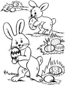 зайчики с яйцами