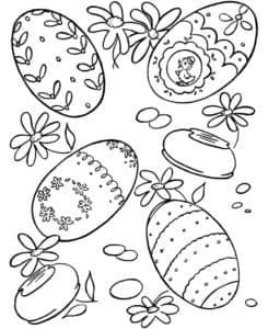 яйца с узорами и цветами