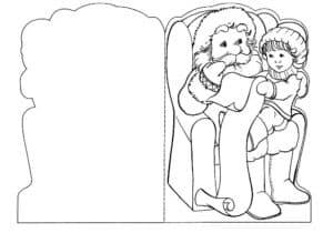 дедушка мороз с ребенком