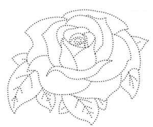 цветок роза раскраска по точкам