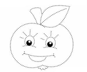 яблоко раскраска по точкам