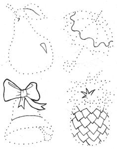 предметы раскраска по точкам