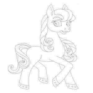 лошадка пони раскраска по точкам