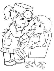 дети играют в стоматолога