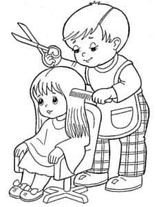мальчик парикмахер