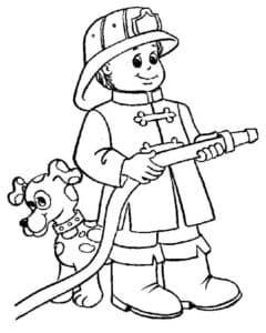 пожарник и собачка