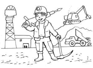 строитель и машины