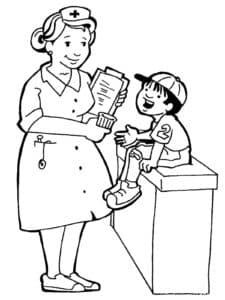 учительница и мальчик