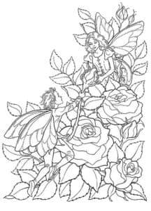 Много роз и дети