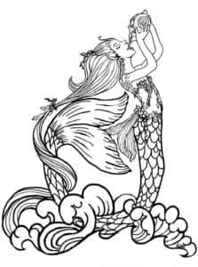 русалка пьет зелье
