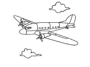 Самолет с двумя пропеллерами