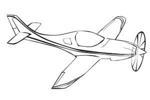 Маленький самолет раскраска