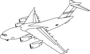 Самолет раскраска для девочек