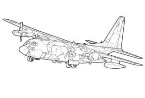 Военный самолет раскраска для мальчиков
