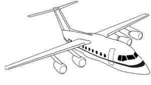 Обычный пассажирский самолет