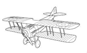 Самолет кукурузник полосатый