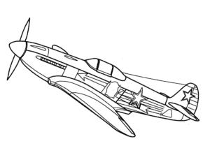 Военный самолет с пропеллером