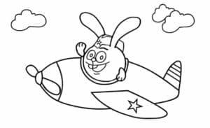 Смешарик на самолете