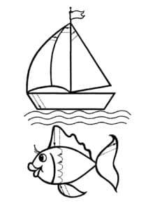 рыбка и кораблик
