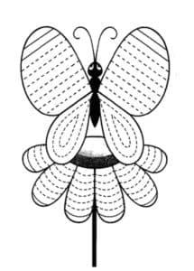 бабочка раскраска штриховка