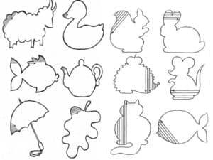 животные раскраска штриховка