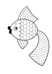 золотая рыбка раскраска штриховка