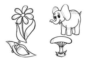 цветочек и жук раскраска штриховка