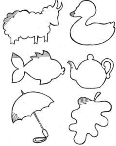 предметы и животные раскраска штриховка детская