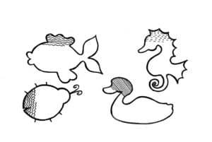 раскраска штриховка для ребенка