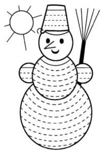 снеговик раскраска штриховка