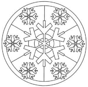 снежинка в круге
