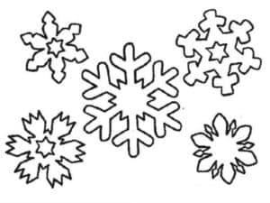 снежинки разной формы
