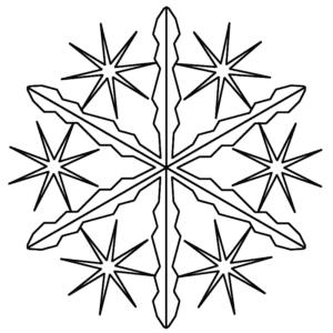 детская раскраска снежинка