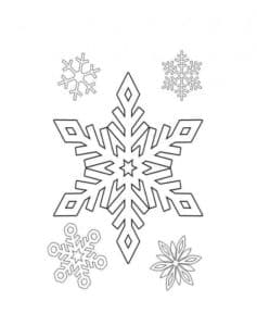 снежинка раскраска для ребенка