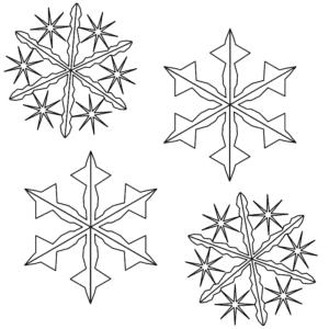 шаблон снежинок