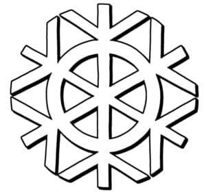 большая красивая снежинка