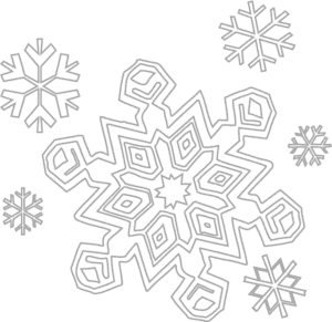 снежинки с разными узорами раскраска