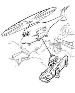 Вертолет и тачка