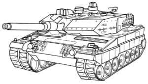 Раскраска для ребенка танк
