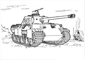 Танк с пушкой и пулеметом