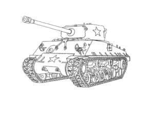 Раскраска советский танк