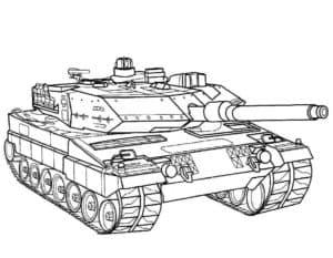 Красивая раскраска танк