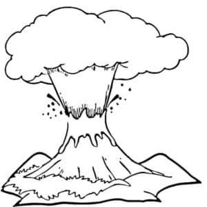 Взрыв с лавой раскраска детская