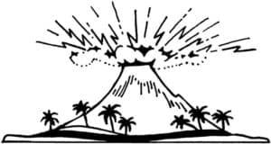 Вулкан и пальмы