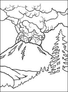 Вулкан и елка