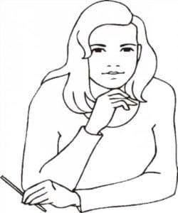 женщина с карандашом