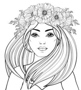 женщина с венком на голове