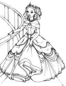 картинки принцесс раскраски